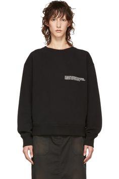 b5e45e3a4fd88f Calvin Klein 205W39NYC Black Logo Crewneck Sweatshirt