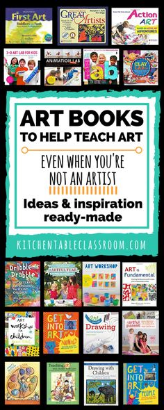 This list of art books is for those mamas that maybe don't consider themselves artists. These art books can inspire a single lesson or an entire curriculum. Informations About Art Books to Help you Te Help Teaching, Teaching Art, Middle School Art, Art School, High School, Arte Elemental, Art Books For Kids, Art Education Projects, Art Projects