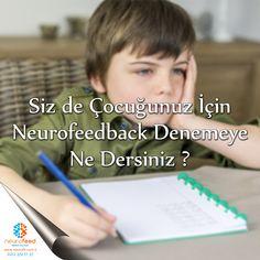 """Siz de çocuğunuz için neurofeedback denemeye ne dersiniz ? Eğitim çağındaki çocukların ders dinlemesinde yaşadığı sorunlar ve okul başarısızlığıyla ortaya çıkan dikkat eksikliği ve algılama sorunlarının tedavisinde beyin dalgalarını şekillendirerek düzenlemeyi içeren """"neurofeedback"""" yöntemi, giderek daha fazla velinin ilgisini çekiyor.Sizi de Merkezimize Bekliyoruz.  0 (212) 351 17 37"""