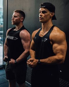 Elliot and Ethan looking great in Gymshark vests. With flattering cuts, look fly with your training partner and invest in the vest. 1950s Jacket Mens, Muscle Boy, Hot Guys, Hot Men, Body Weight, Personal Trainer, Male Models, Fitspo, Fitness Models