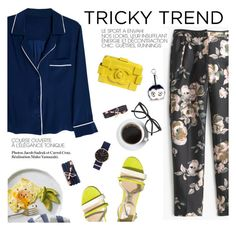 """Tricky trend"" by punnky ❤ liked on Polyvore featuring Alessandra Mackenzie, J.Crew, Selima Optique and Fendi"