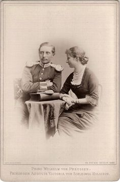 Augusta Viktoria and fiance Wilhelm 1880.