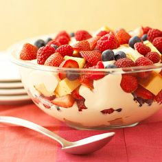 Berry Trifle with pound cake from @midwestliving.#GotItFree Kroger CO. stores carries the cake and slices now.