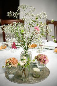 Centros de mesa - TELVA #Novias #BodasConEstilo #Flores