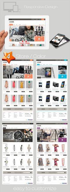 Leisure Responsive E-commerce HTML5 Template