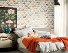 Living Walls Schöner Wohnen6 behang Normaal per rol €31,95 Afmetingen: 10M lang en 53CM breed Artikelnummer: 94376-3 Patroon: 21CM Kleur: créme, grijs, oranje, turquoise Behangplaksel: Perfax roze Kwaliteit: vliesbehang