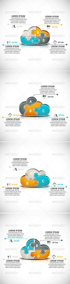4 Business Infographics Template #design #present Download: http://graphicriver.net/item/4-business-infographics/8373299?ref=ksioks