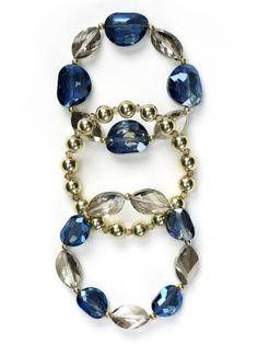 Blue Glass Bracelet Set
