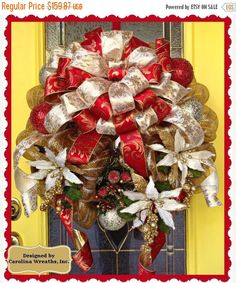 SUPER SALE Christmas Wreath 21  SKU 122529 by CarolinaHomeDecorand