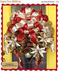 SUPER SALE Christmas Wreath 21  SKU 122529 by CarolinaHomeDecorand