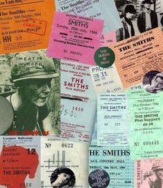 The Smiths ticket stubs #Morrissey #Marr