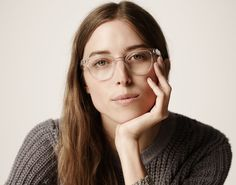 clear frame glasses Warby Parker