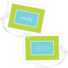 Sour Apple Light Bright Luggage Tags