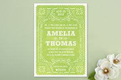 Love the negative and positive space here - Romantic Rustic Wedding Invitations