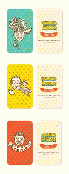 A Storyteller's Business Cards on Behance