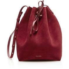Dolce & Gabbana Bucket bag ($1,875) ❤ liked on Polyvore featuring bags, handbags, shoulder bags, burgundy, red purse, leather purses, red shoulder bag, bucket bags and burgundy purse