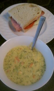 Southern Color: Panera Broccoli Cheese Soup.