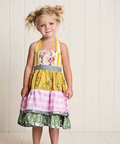 Be Girl Clothing Canary & Pink Halter Tieback Dress - Infant, Toddler & Girls by Be Girl Clothing #zulily #zulilyfinds