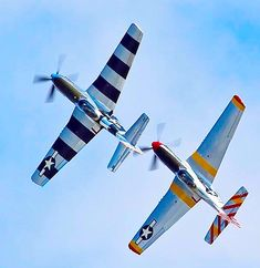 A pair of Mustangs play chase. P51 Mustang, Mustangs, Wwii, Plane, Aircraft, American, Aviation, World War Ii, Planes