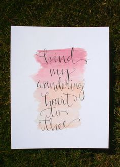 Bind My Wandering Heart to Thee by eastwestdesignco on Etsy
