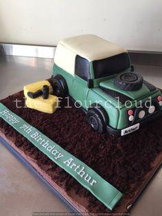 Land Rover birthday cake.