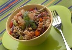 Here's Jerome's latest recipe, a colorful veggie-pasta salad you and you kids will love: Rainbow D's 20% Cooler Pasta Salad.