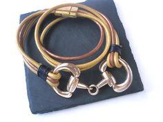Equestrian wrap Bracelet Horse jewellery by FruttiTuttiBeadCandy
