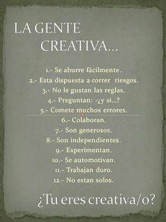 ¿Cómo es la gente creativa?