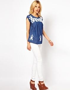 Enlarge Mango Embroidered Top