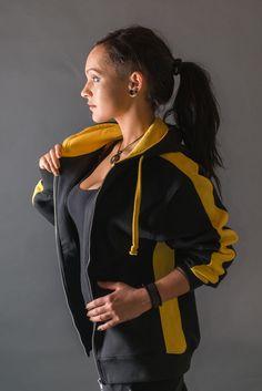 Full Zip Hoodie - Tetronom Hornet Urban Style Unisex Full ZIP Hoodie Innen angeraut Seitenpanels in Kontrastfarbe Kontrastfarbene Innenkapuze Streifen über Ärmel Urbane Mode, Full Zip Hoodie, Rain Jacket, Windbreaker, Unisex, Hoodies, Jackets, Style, Fashion