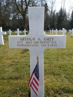 Private Arthur A. Amey U.S. Army Unit 4165th Quartermaster Depot Company Service # 33101876 Entered Service From: Pennsylvania Date of Death: February 3, 1945 World War II Buried: Plot A Row 10 Grave 42 Epinal American Cemetery Dinozé, France