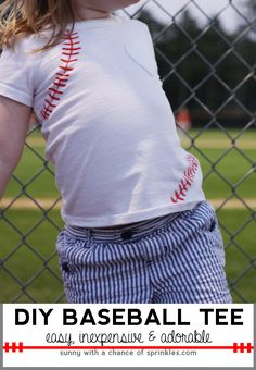 DIY Baseball T-shirt - Sunny with a Chance of Sprinkles