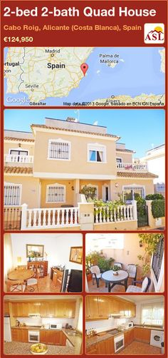 2-bed 2-bath Quad House in Cabo Roig, Alicante (Costa Blanca), Spain ►€124,950 #PropertyForSaleInSpain