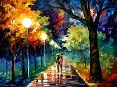 This painting is called Night Alley and it portrays a man and woman taking evening stroll. Description from he-arts.se. I searched for this on bing.com/images