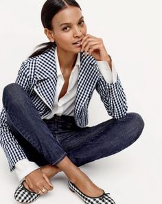 J. Crew Embraces Denim & Gingham for April Style Guide