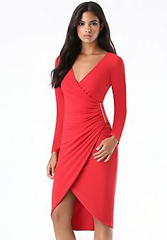 Tulip Hem Surplice Dress