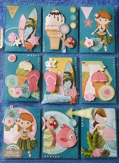 Pocket Letter Atc Cards, Card Tags, Journal Cards, Pocket Pal, Pocket Cards, Scrapbook Paper Crafts, Scrapbook Supplies, Project Life Cards, Pocket Scrapbooking