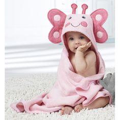 #adorable :))) Toalla Con Capucha Mariposa de Soothetime - TodoPapás Hooded Towel Tutorial, Image Mode, Baby Applique, Hooded Bath Towels, My Bebe, Baby Koala, Baby Towel, Baby Princess, My Little Baby