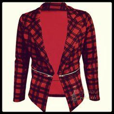 Blazer Tartan 28€ - More: www.facebook.com/bossshopitaly - free shipping italy europe woman fashion tren moda low cost
