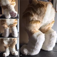I got scared when I saw this Fursuit Paws, Fursuit Head, Cosplay Tutorial, Cosplay Diy, Fursuit Tutorial, Furry Drawing, Anthro Furry, Animal Costumes, Fursuit