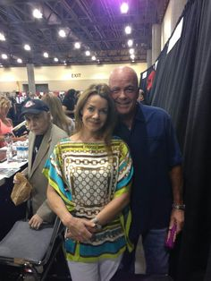 Babylon 5. This picture was taken at the Phoenix Comic Con 2013. Claudia Christian and Jerry Doyle with Walter Koenig looking on.
