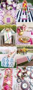 Yellow Patterned Table Runners