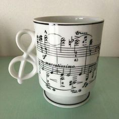 GHC music note treble clef pedestal mug Home Music, Piano Music, Instruments, Music Decor, Cool Mugs, Acid House, Music Stuff, Music Things, Music Lovers