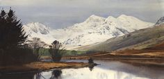 Snowdon from Mymbyr, an original watercolour painting by Rob Piercy