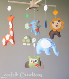 Love the felt animals. Maybe baby deer...