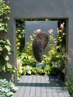 Sculpture by Rupert Till in our Hampton court garden 2013