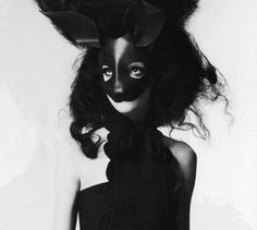 Rabbit mask available at Maison Kiss Kiss
