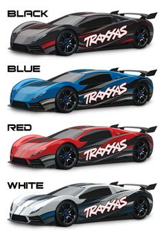 New colors for Traxxas XO-1--which is your fave?