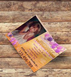 Custom  Photo Birthday Invitation No2- Printable  up to ANY AGE Birthday Invite
