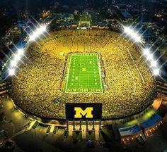 Under the Lights 2014 Michigan vs. Score: Michigan State I was there! Ohio State Michigan, Michigan Athletics, Michigan Go Blue, Michigan Wolverines Football, University Of Michigan, U Of M Football, College Football Teams, Football Stadiums, Sports Teams